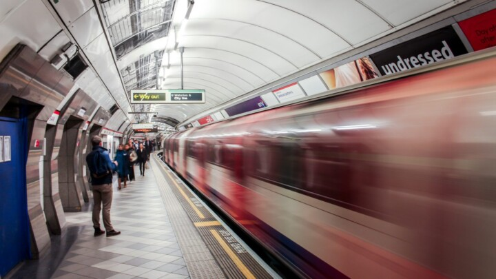 Advance LED lighting in a tube station